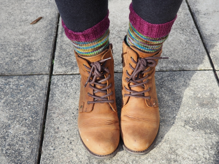 Thursday Sock-a-long: How to Wear Hand Knit Socks